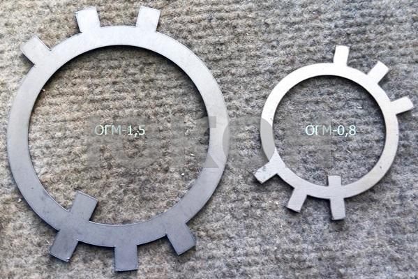 стопорная прокладка шлицевого вала ОГМ 1,5 и ОГМ 0,8
