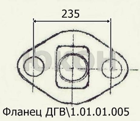 Фланец ДГВ 1.01.01.005